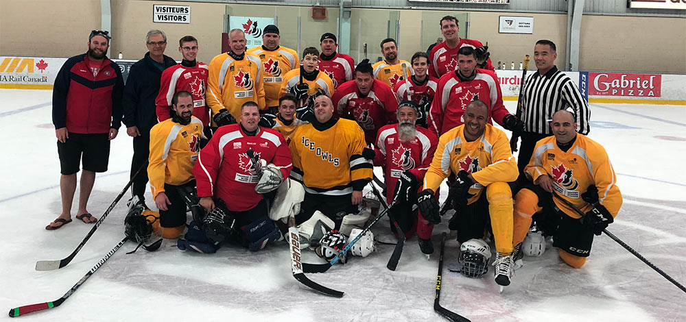 Blind Hockey Game participants