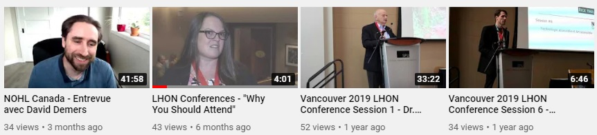 LHON Vancouver Conference YouTube Link